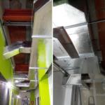 Muestra sistema de ventilación forzada escuela de música